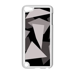 Simple Gray Abstraction Apple Ipod Touch 5 Case (white) by Valentinaart