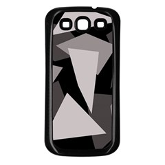 Simple Gray Abstraction Samsung Galaxy S3 Back Case (black) by Valentinaart