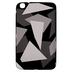 Simple Gray Abstraction Samsung Galaxy Tab 3 (8 ) T3100 Hardshell Case  by Valentinaart