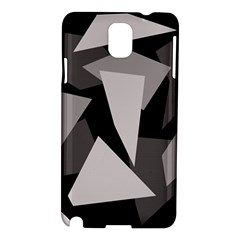 Simple Gray Abstraction Samsung Galaxy Note 3 N9005 Hardshell Case by Valentinaart