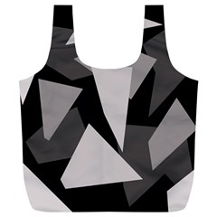Simple Gray Abstraction Full Print Recycle Bags (l)  by Valentinaart