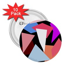 Colorful Geometrical Design 2 25  Buttons (10 Pack)  by Valentinaart