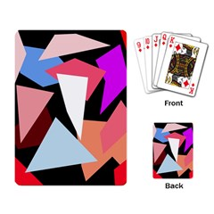 Colorful Geometrical Design Playing Card by Valentinaart