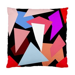 Colorful Geometrical Design Standard Cushion Case (two Sides) by Valentinaart
