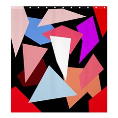 Colorful Geometrical Design Shower Curtain 66  X 72  (large)  by Valentinaart