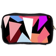 Colorful Geometrical Design Toiletries Bags 2 Side by Valentinaart