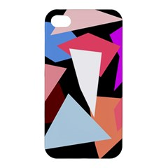 Colorful Geometrical Design Apple Iphone 4/4s Premium Hardshell Case by Valentinaart