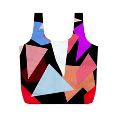 Colorful geometrical design Full Print Recycle Bags (M)  by Valentinaart