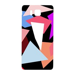 Colorful Geometrical Design Samsung Galaxy Alpha Hardshell Back Case by Valentinaart