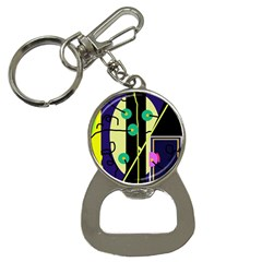 Crazy Abstraction By Moma Bottle Opener Key Chains by Valentinaart