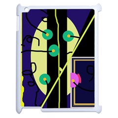 Crazy Abstraction By Moma Apple Ipad 2 Case (white) by Valentinaart