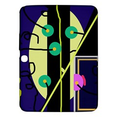 Crazy Abstraction By Moma Samsung Galaxy Tab 3 (10 1 ) P5200 Hardshell Case  by Valentinaart