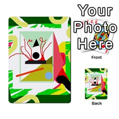 Green Abstract Artwork Multi Purpose Cards (rectangle)  by Valentinaart
