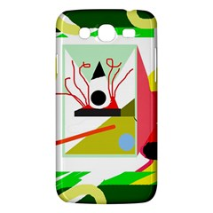 Green Abstract Artwork Samsung Galaxy Mega 5 8 I9152 Hardshell Case  by Valentinaart