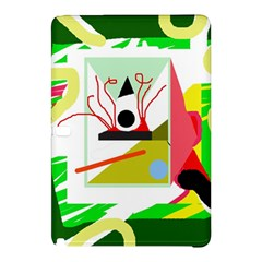 Green Abstract Artwork Samsung Galaxy Tab Pro 10 1 Hardshell Case by Valentinaart