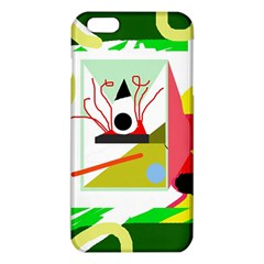 Green Abstract Artwork Iphone 6 Plus/6s Plus Tpu Case by Valentinaart