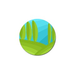 Green And Blue Landscape Golf Ball Marker (4 Pack) by Valentinaart