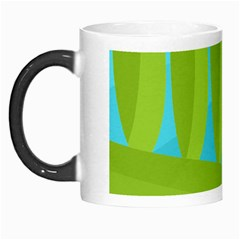 Green And Blue Landscape Morph Mugs by Valentinaart