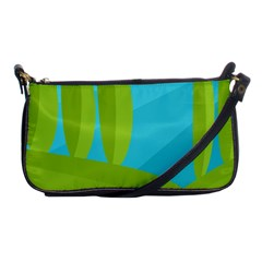 Green And Blue Landscape Shoulder Clutch Bags by Valentinaart