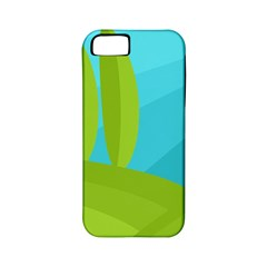 Green And Blue Landscape Apple Iphone 5 Classic Hardshell Case (pc+silicone) by Valentinaart