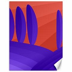 Purple And Orange Landscape Canvas 12  X 16   by Valentinaart