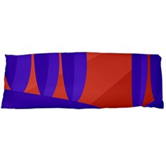 Purple And Orange Landscape Body Pillow Case (dakimakura) by Valentinaart
