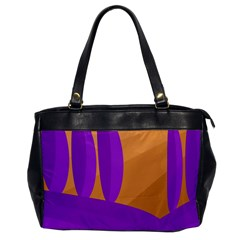 Orange And Purple Landscape Office Handbags by Valentinaart