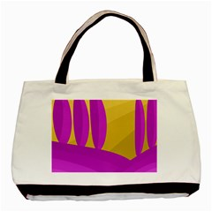 Yellow And Magenta Landscape Basic Tote Bag (two Sides) by Valentinaart