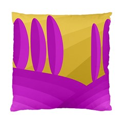 Yellow And Magenta Landscape Standard Cushion Case (two Sides) by Valentinaart