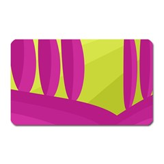 Yellow And Pink Landscape Magnet (rectangular) by Valentinaart