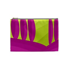 Yellow And Pink Landscape Cosmetic Bag (medium)  by Valentinaart
