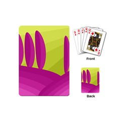 Yellow And Pink Landscape Playing Cards (mini)  by Valentinaart