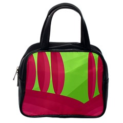 Green And Red Landscape Classic Handbags (one Side) by Valentinaart