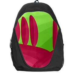 Green And Red Landscape Backpack Bag by Valentinaart