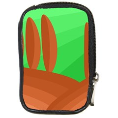 Green And Orange Landscape Compact Camera Cases by Valentinaart