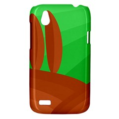 Green and orange landscape HTC Desire V (T328W) Hardshell Case