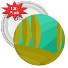 Green And Yellow Landscape 3  Buttons (100 Pack)  by Valentinaart