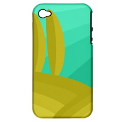 Green and yellow landscape Apple iPhone 4/4S Hardshell Case (PC+Silicone)
