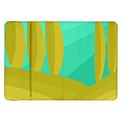 Green And Yellow Landscape Samsung Galaxy Tab 8 9  P7300 Flip Case by Valentinaart