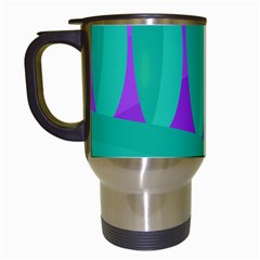 Purple And Green Landscape Travel Mugs (white) by Valentinaart