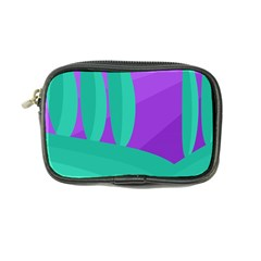 Purple And Green Landscape Coin Purse by Valentinaart