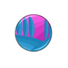 Pink And Blue Landscape Hat Clip Ball Marker (10 Pack) by Valentinaart