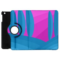 Pink And Blue Landscape Apple Ipad Mini Flip 360 Case by Valentinaart