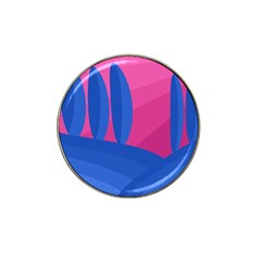 Magenta And Blue Landscape Hat Clip Ball Marker (10 Pack) by Valentinaart