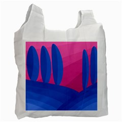 Magenta And Blue Landscape Recycle Bag (one Side) by Valentinaart