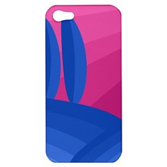 Magenta And Blue Landscape Apple Iphone 5 Hardshell Case by Valentinaart
