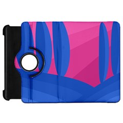Magenta And Blue Landscape Kindle Fire Hd Flip 360 Case by Valentinaart