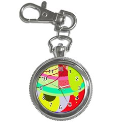 Colorful abstraction by Moma Key Chain Watches by Valentinaart