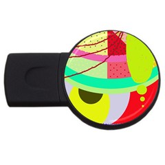 Colorful Abstraction By Moma Usb Flash Drive Round (2 Gb)  by Valentinaart