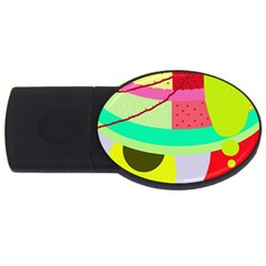 Colorful Abstraction By Moma Usb Flash Drive Oval (2 Gb)  by Valentinaart